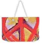 Peace Love  Art Weekender Tote Bag