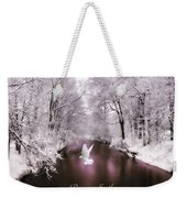 Peace On Earth With Text Weekender Tote Bag