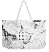 Peace Rules Weekender Tote Bag