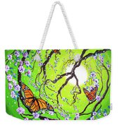 Peace Tree With Monarch Butterflies Weekender Tote Bag