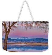 Peaceful Early Morning First Light Longs Peak View Weekender Tote Bag