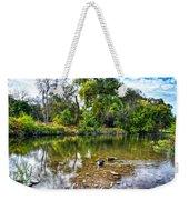 Peaceful Morning On Cibolo Creek Weekender Tote Bag