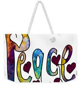 Peaceful Pasttimes Abstract Inspirational Art By Omaste Witkowsk Weekender Tote Bag