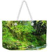 Peaceful Small Creek Under Kinsol Trestle, Vancouver Island, Bc, Canada 1. Weekender Tote Bag