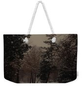 Peaceful Snow Dusk Weekender Tote Bag