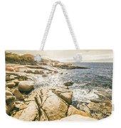 Peaceful Sun Flared Australian Coastline Weekender Tote Bag