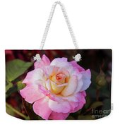 Peach And White Rose Weekender Tote Bag