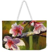 Peach Blossom Time Weekender Tote Bag