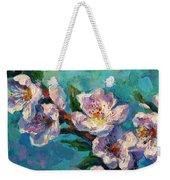 Peach Blossoms Flowers Painting Weekender Tote Bag