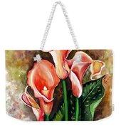 Peach Callas Weekender Tote Bag