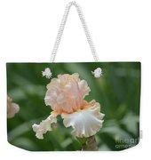 Peach Color Iris Weekender Tote Bag