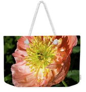 Peach Colored Poppy Weekender Tote Bag