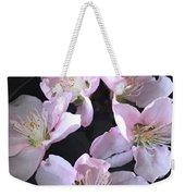 Peach Flowers Weekender Tote Bag
