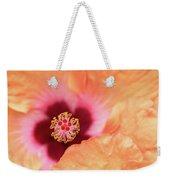Peach Hibiscus - Macro Weekender Tote Bag