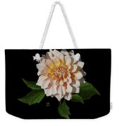 Peach-n-yellow Dahlia Cutout Weekender Tote Bag