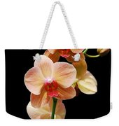 Peach Orchids Weekender Tote Bag