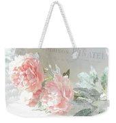 Peach Peonies Impressionistic Peony Floral Prints - French Impressionistic Peach Peony Prints Weekender Tote Bag