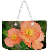 Peach Poppies Weekender Tote Bag