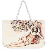 Peach Weekender Tote Bag