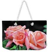 Peach Rosebud Trio Weekender Tote Bag
