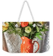 Peach Roses - Mini Weekender Tote Bag