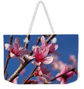 Peach Tree Blossoms Weekender Tote Bag