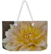 Peaches And Cream Dahlia Weekender Tote Bag