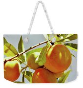 Peaches On The Tree Weekender Tote Bag