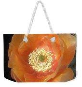 Peachy Opuntia Flower Weekender Tote Bag