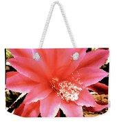 Peachy Pink Cactus Orchid Weekender Tote Bag