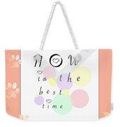 Peachy Pink Wabi Sabi Time Weekender Tote Bag