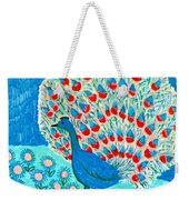 Peacock And Lily Pond Weekender Tote Bag