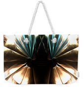 Peacock Art In Abstract Weekender Tote Bag