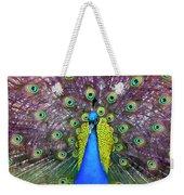 Peacock Art Weekender Tote Bag