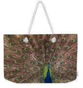 Peacock At The Fort Weekender Tote Bag
