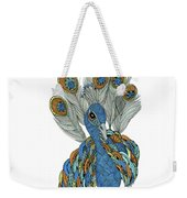 Peacock Weekender Tote Bag by Barbara McConoughey