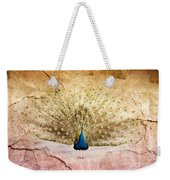 Peacock Bird Textured Background Weekender Tote Bag