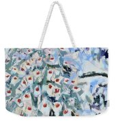 Peacock Blue Fragmented And Vegged Out Weekender Tote Bag