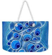 Peacock Bubbles Weekender Tote Bag