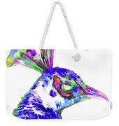 Peacock Closeup Weekender Tote Bag