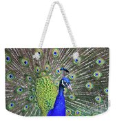 Peacock Colors Weekender Tote Bag