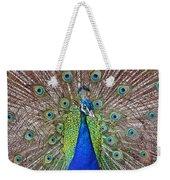 Peacock Displaying His Plumage Weekender Tote Bag