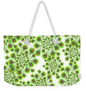 Peacock Feather Abstract Weekender Tote Bag