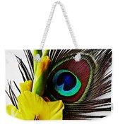 Peacock Feather And Gladiola 3 Weekender Tote Bag