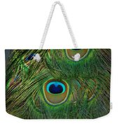 Peacock Feather Weekender Tote Bag