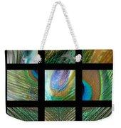 Peacock Feather Mosaic Weekender Tote Bag