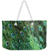 Peacock Feather Pattern Weekender Tote Bag