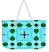 Peacock Feathers Abstract Weekender Tote Bag