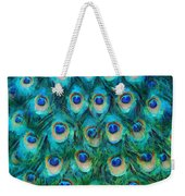 Peacock Feathers Weekender Tote Bag by Nikki Marie Smith