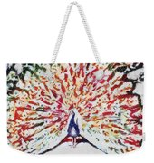 Peacock Fragmented And Vegged Out Weekender Tote Bag